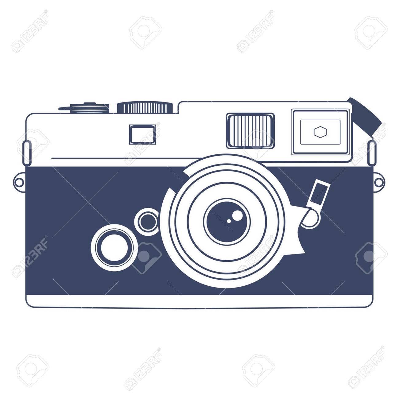hight resolution of vector vintage camera vector clipart art