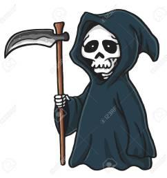 grim reaper cute cartoon skeleton halloween vector illustration clip art stock vector 69937765 [ 1300 x 1300 Pixel ]