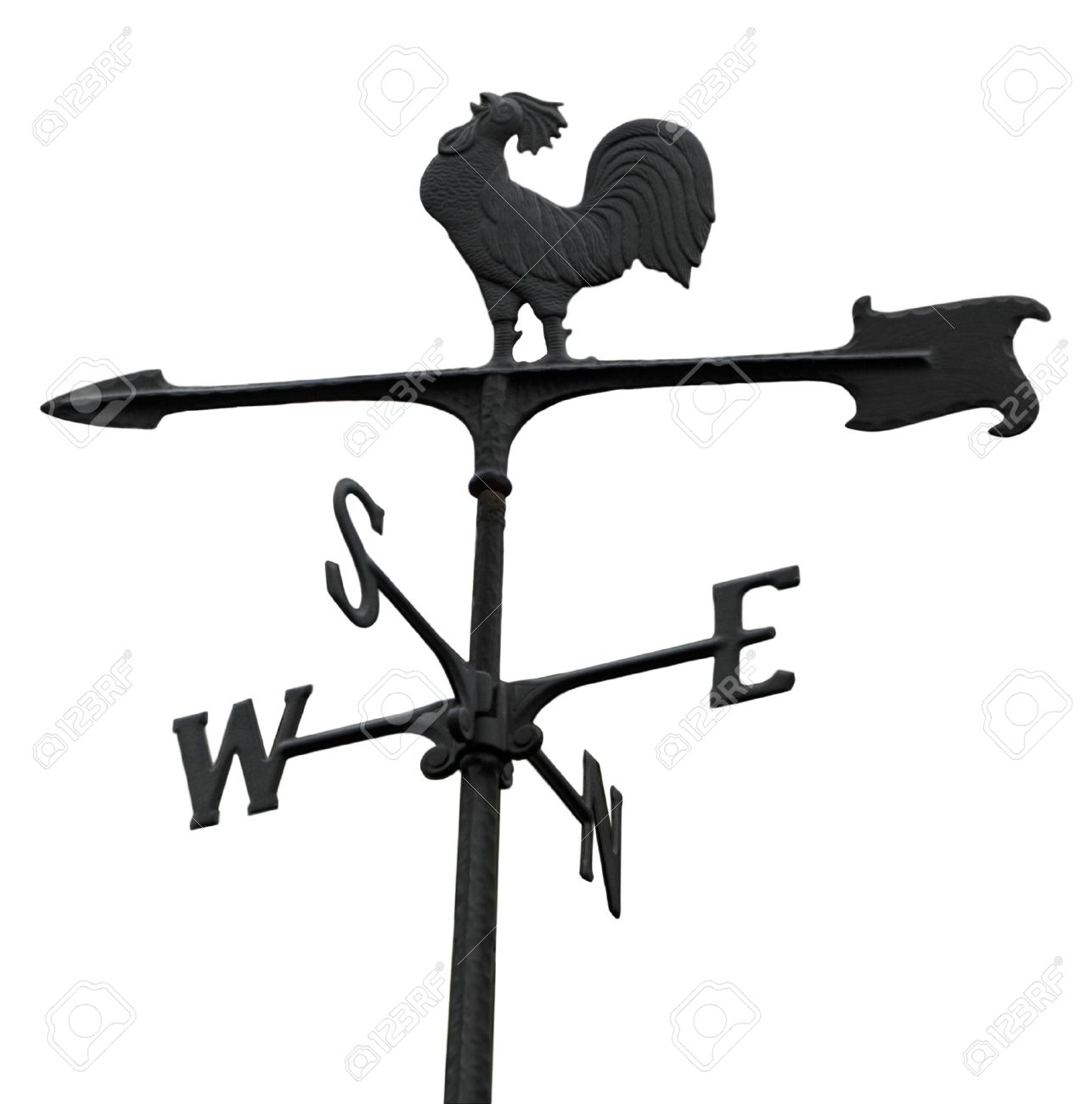 metal windvane weathercock isolated