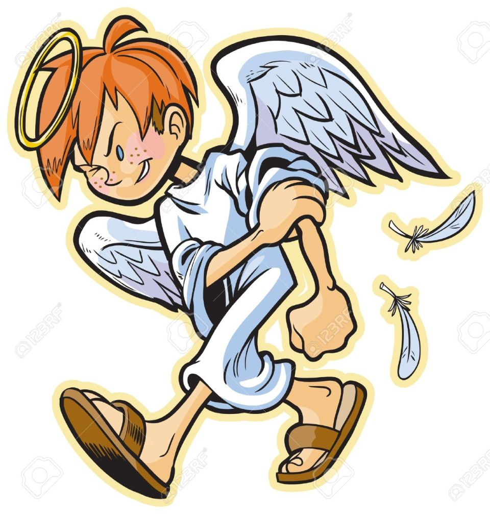 Cartoons Eines Scrappy Engel Mit Roten Haaren Leitete Für Einen Kampf!  Lizenzfrei Nutzbare Vektorgrafiken, Clip Arts, Illustrationen. Image  20887224.