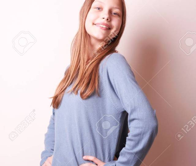 Portrait Of A Cute Smiling Teen Girl Stock Photo 25198701