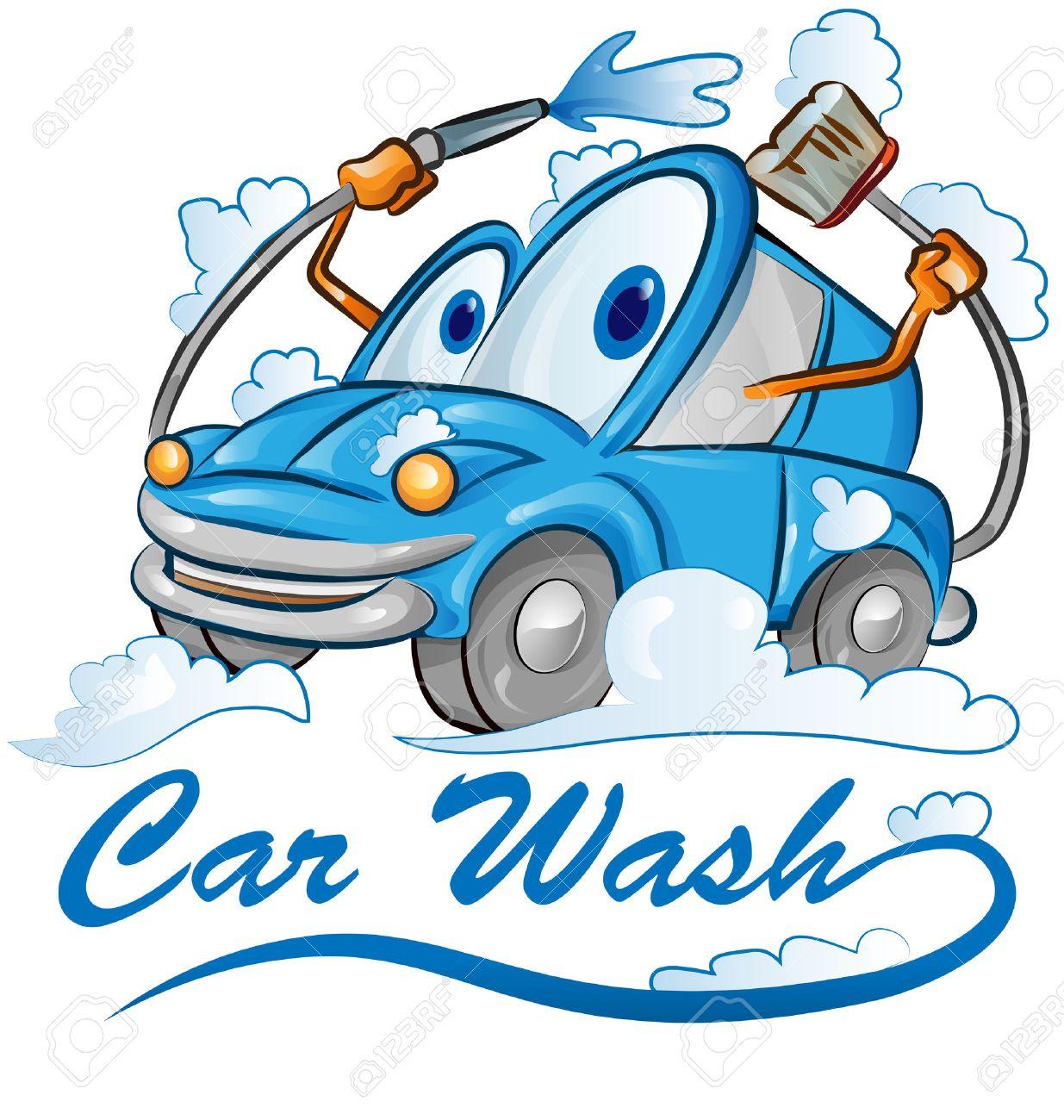 car wash cartoon isolated