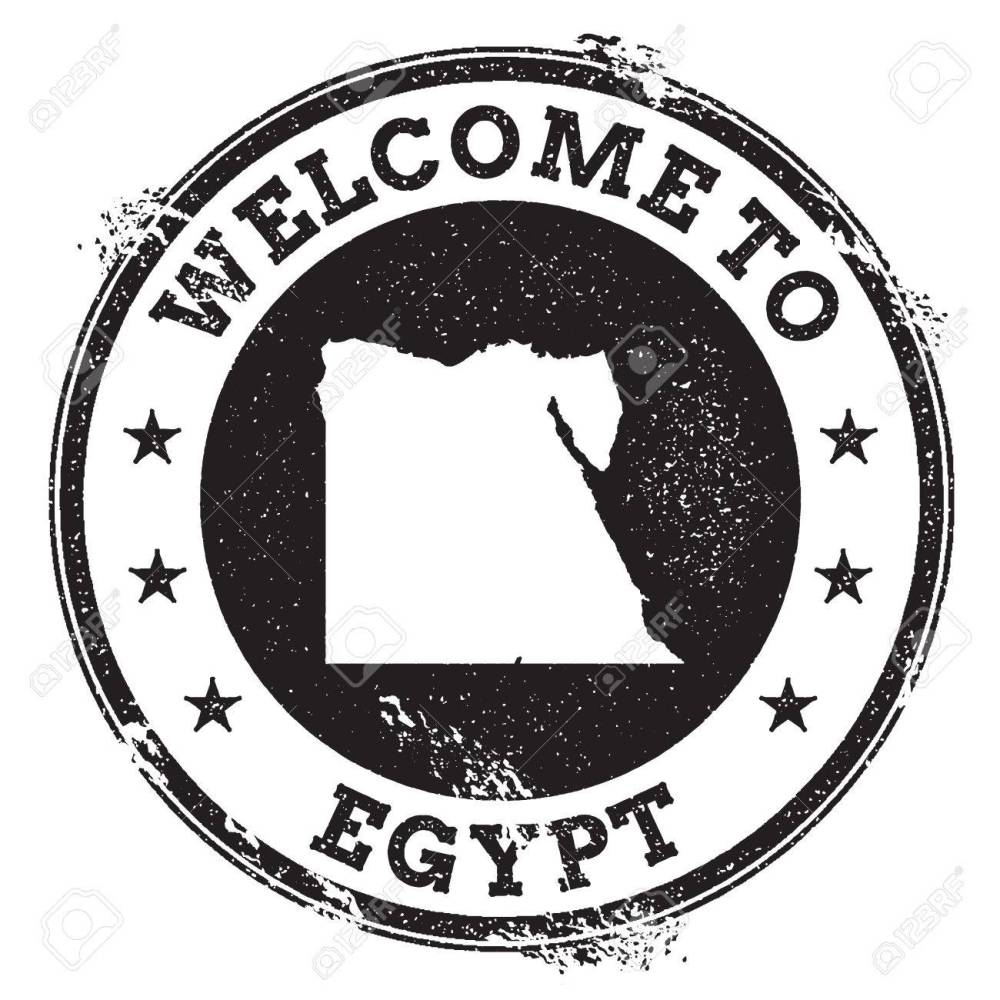 medium resolution of vector vintage passport welcome stamp with egypt map grunge rubber stamp with welcome to egypt text vector illustration