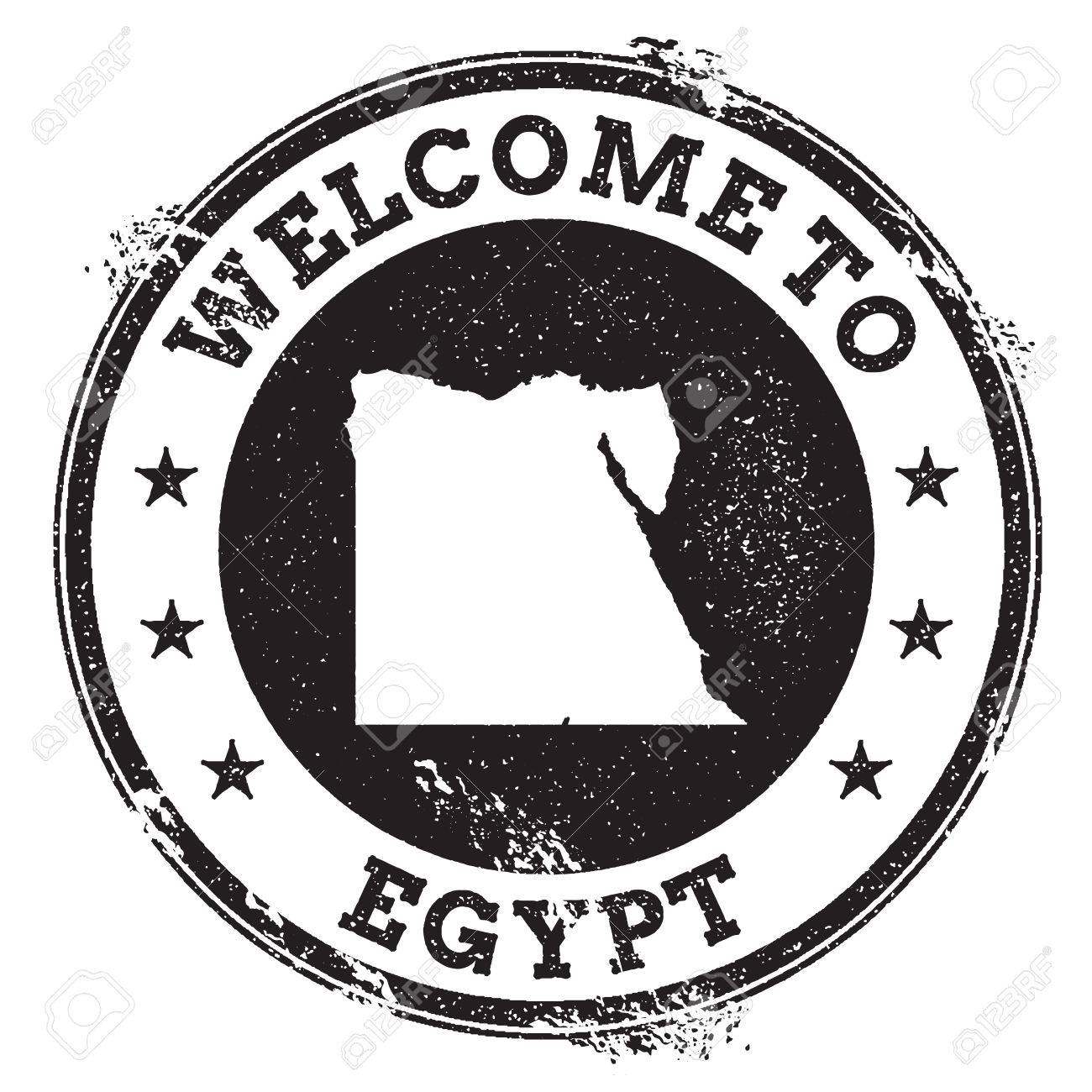 hight resolution of vector vintage passport welcome stamp with egypt map grunge rubber stamp with welcome to egypt text vector illustration
