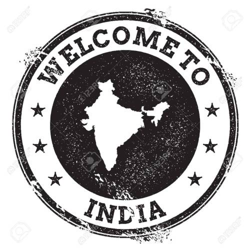 small resolution of vector vintage passport welcome stamp with india map grunge rubber stamp with welcome to india text vector illustration