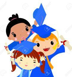 graduation kids stock vector 30721335 [ 1300 x 1276 Pixel ]