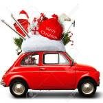 Christmas Car With Gift Sack Stock Photo Picture And Royalty Free Image Image 89675475