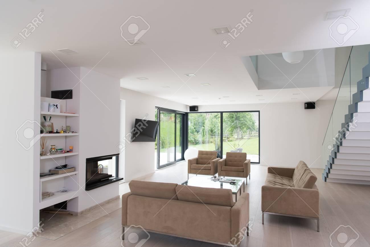 architecture interieur appartement moderne grand salon