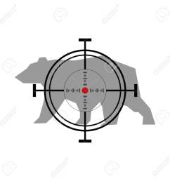 illustration with bear hunting crosshair target stock vector 49503572 [ 1300 x 1300 Pixel ]