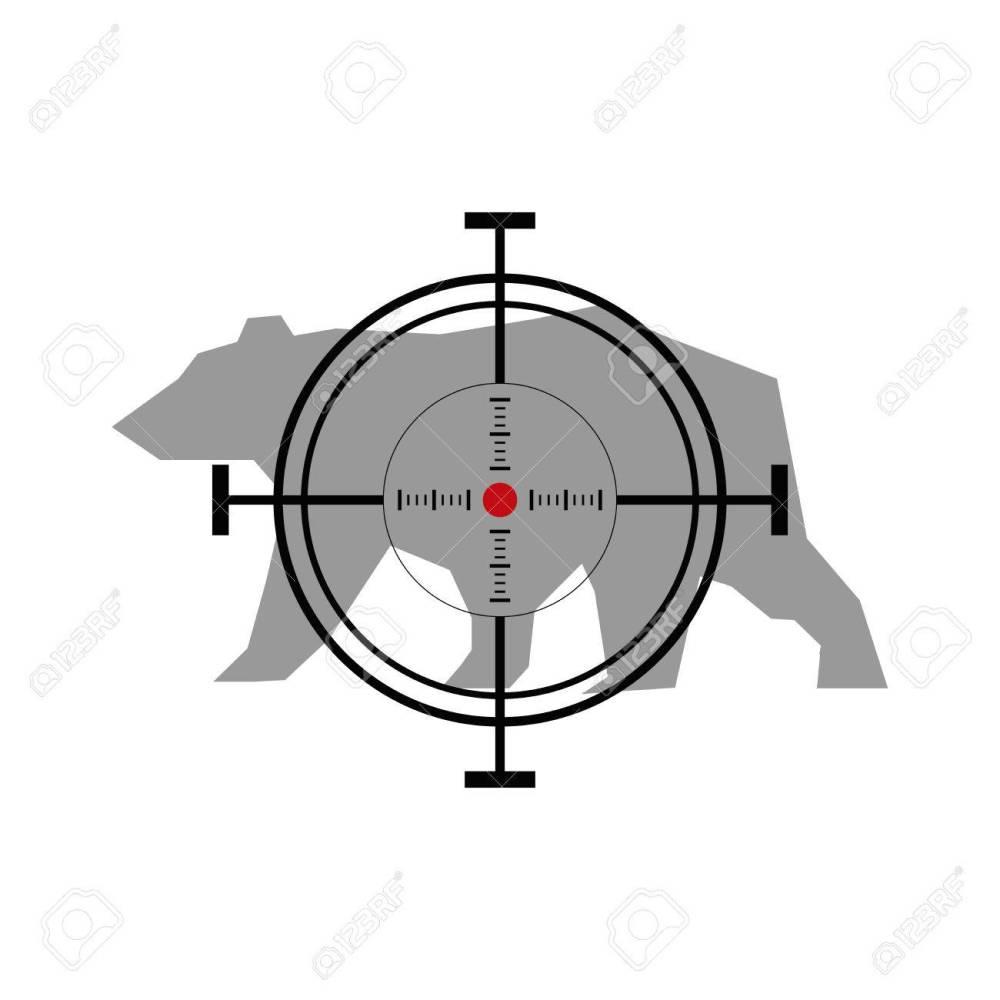 medium resolution of illustration with bear hunting crosshair target stock vector 49503572
