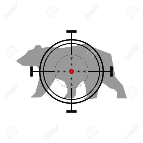 small resolution of illustration with bear hunting crosshair target stock vector 49503572
