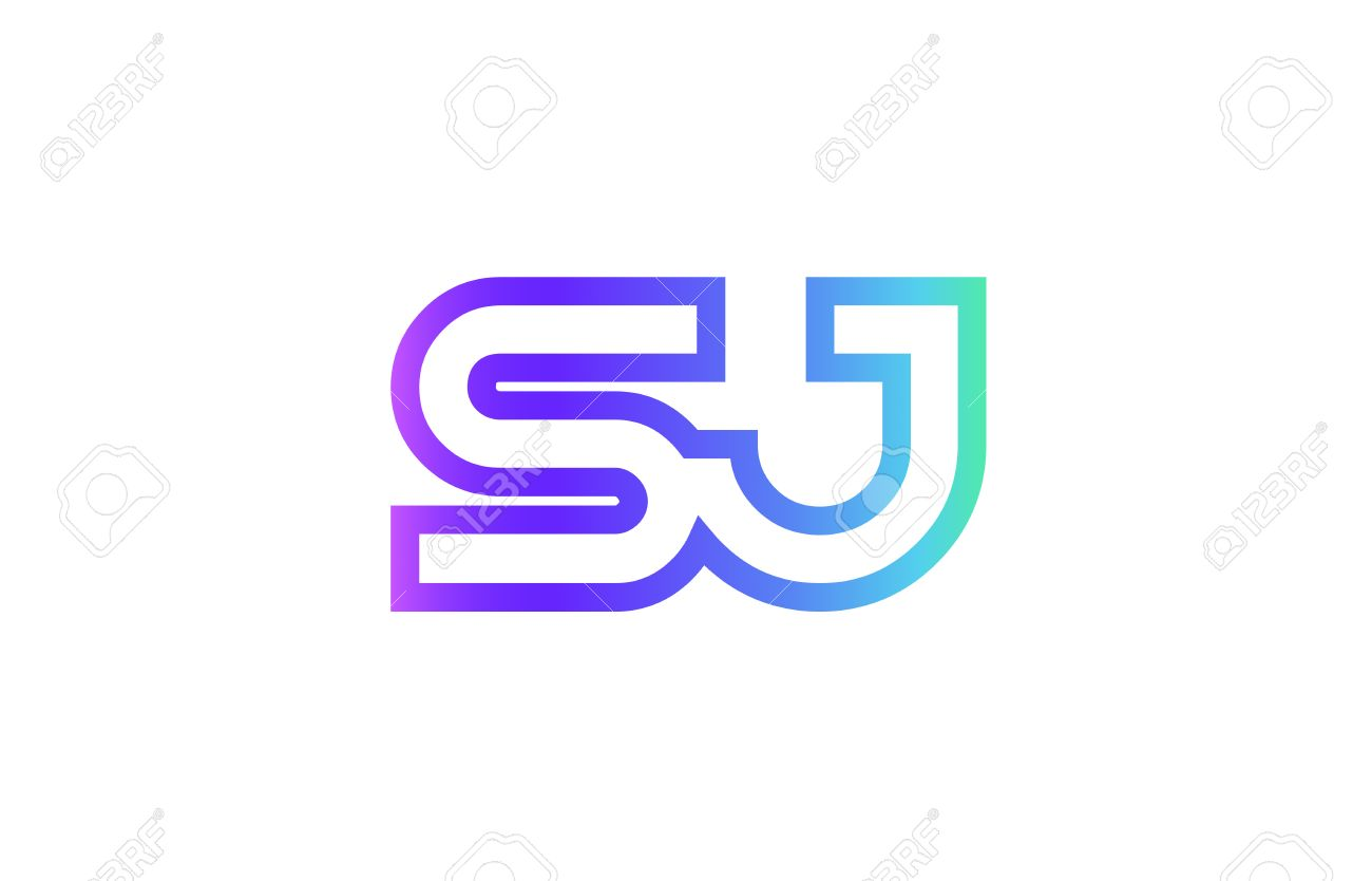 Sj S J Letter Logo Combination Alphabet Stock Vector 84889040
