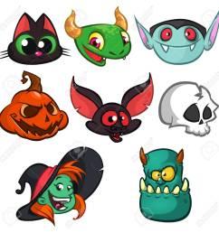 bat witch cat grim reaper green monster  [ 1300 x 1300 Pixel ]