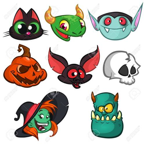 small resolution of bat witch cat grim reaper green monster
