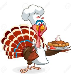 thanksgiving turkey chief cook serving pumpkin pie vector cartoon stock vector 64750145 [ 1300 x 1300 Pixel ]