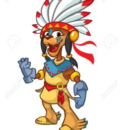 cartoon native american indian character illustration clipart stock vector 110101299 [ 928 x 1300 Pixel ]