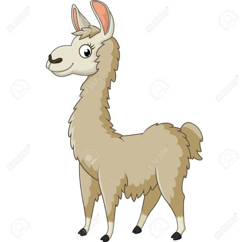 small resolution of llama cartoon stock vector 56878211