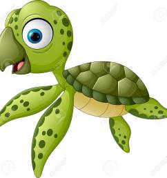 cartoon baby turtle swimming stock vector 57452018 [ 1300 x 1283 Pixel ]
