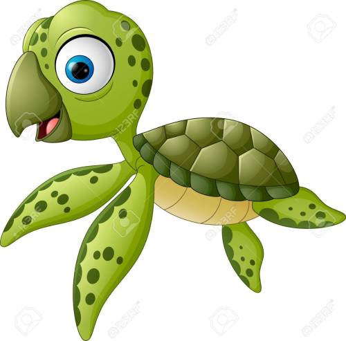 small resolution of cartoon baby turtle swimming stock vector 57452018
