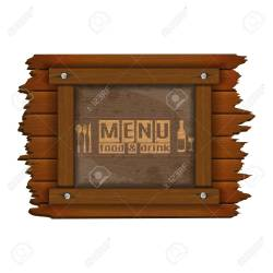Cover Template Restaurant Menu Background Wooden Frame And Glass Royalty Free Cliparts Vectors And Stock Illustration Image 61304145