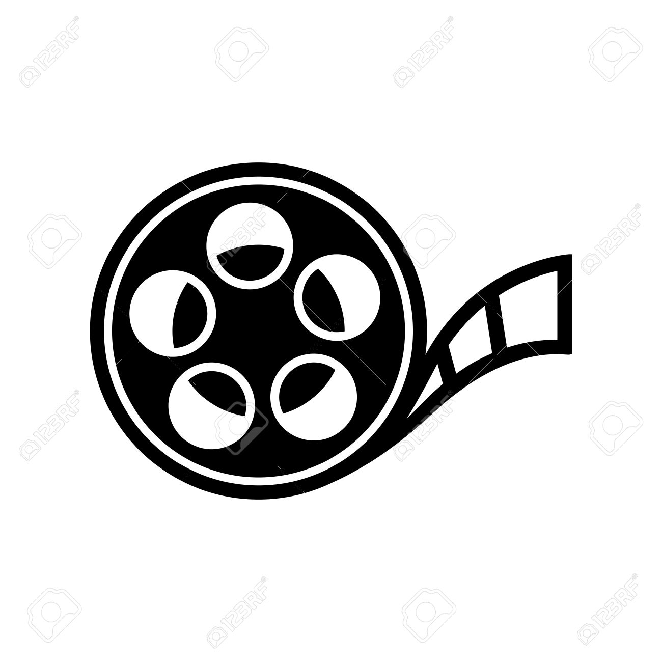 hight resolution of film reel icon stock vector 45755097