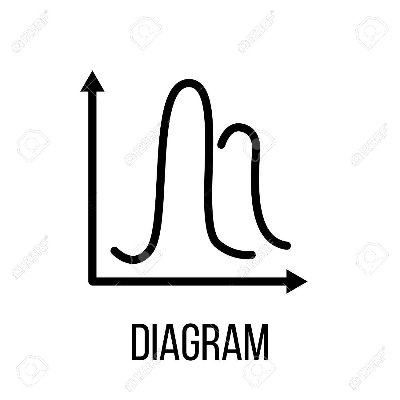 hight resolution of diagram icon in modern line style high quality black outline pictogram for web site design