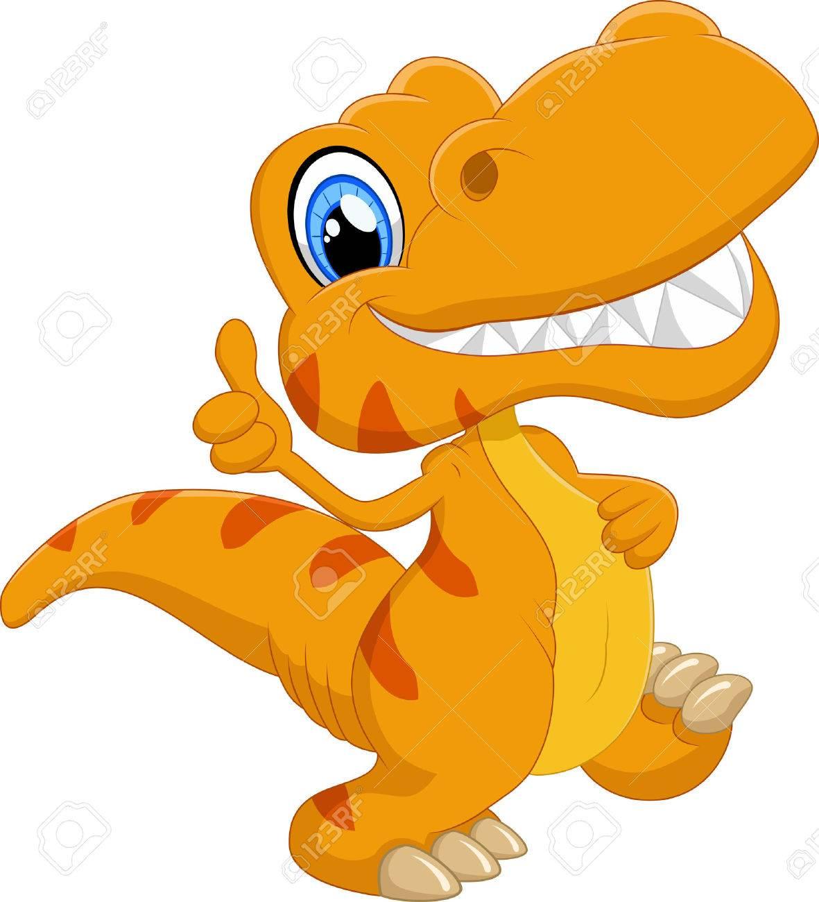 hight resolution of cute dinosaur cartoon