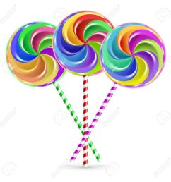 the colorful lollipops on striped sticks over white stock vector 28022002 [ 1300 x 1300 Pixel ]