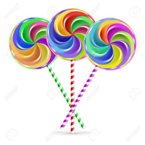 small resolution of the colorful lollipops on striped sticks over white stock vector 28022002