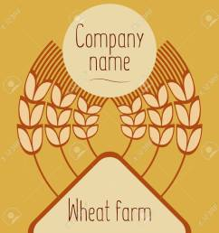 logo with grain ears for the food grain company the label for registration of goods at a fair pastries bakeries the stylized ears of wheat a rye  [ 1300 x 1300 Pixel ]