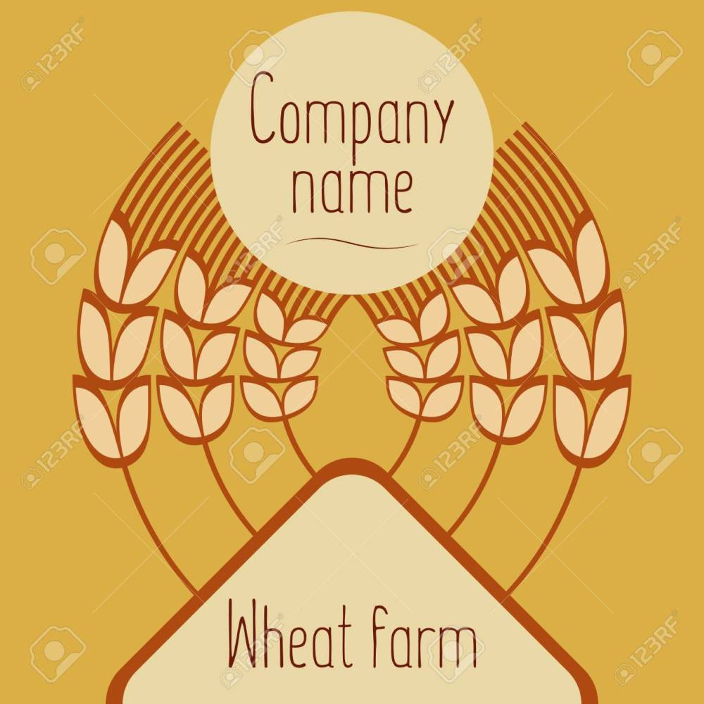 medium resolution of logo with grain ears for the food grain company the label for registration of goods at a fair pastries bakeries the stylized ears of wheat a rye