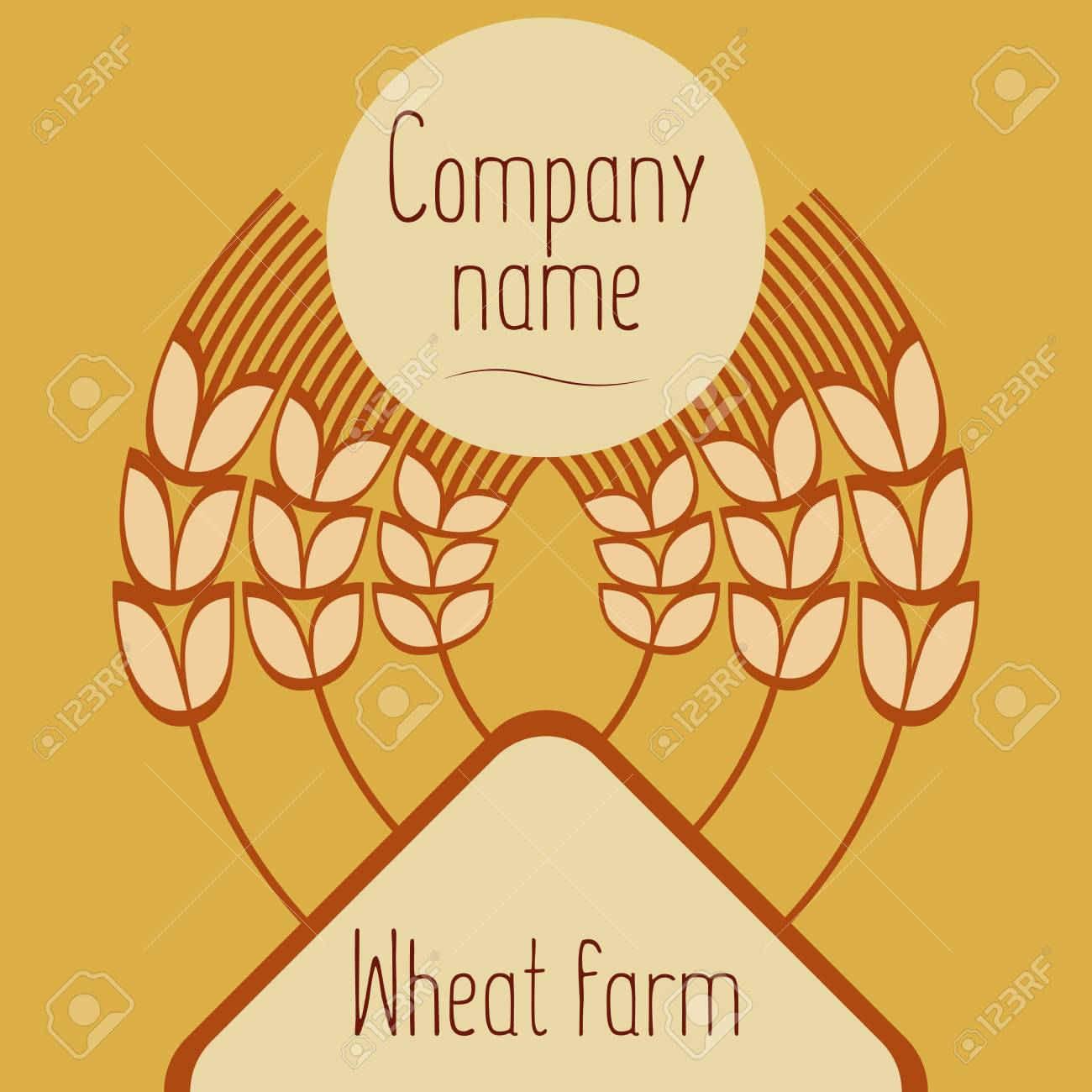 hight resolution of logo with grain ears for the food grain company the label for registration of goods at a fair pastries bakeries the stylized ears of wheat a rye