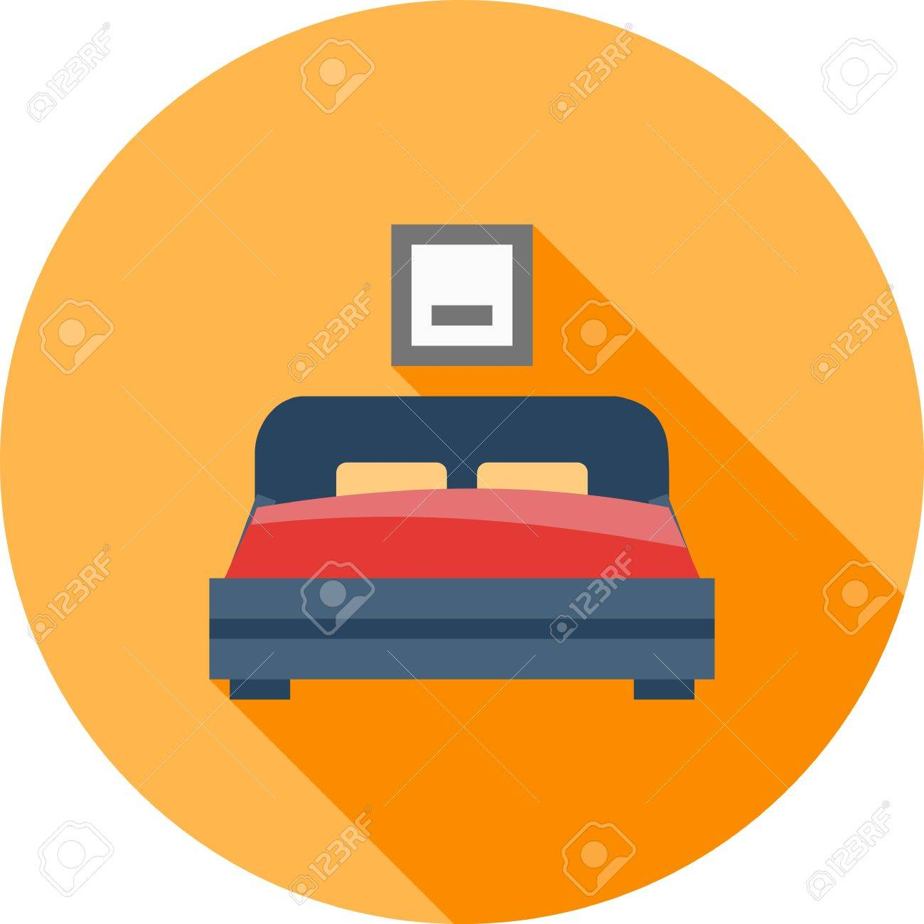 Bedroom Room Bed Icon Vector Image Can Also Be Used For Real Royalty Free Cliparts Vectors And Stock Illustration Image 41635851