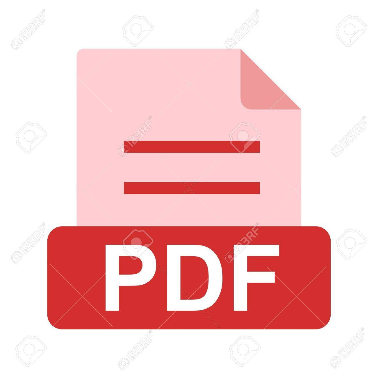 hight resolution of pdf file icon stock vector 45612375