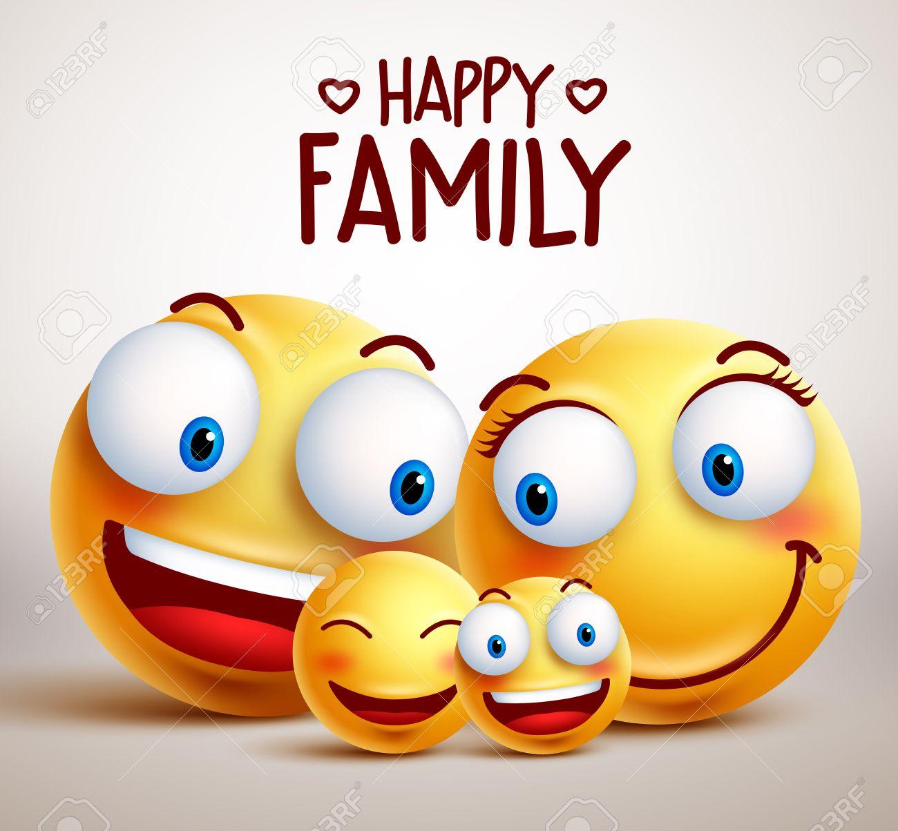 happy family smiley face