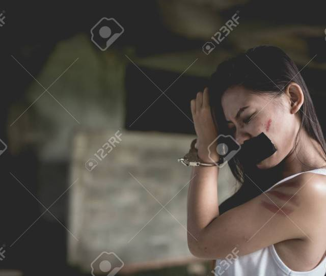 Stock Photo Women Violence And Abused Concept Trafficking Concept