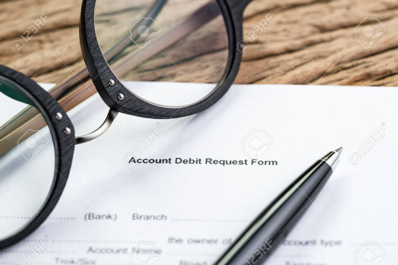 Bank Account Debt Or Financial Sign In Concept Account Debit Stock Photo Picture And Royalty Free Image Image 94482129