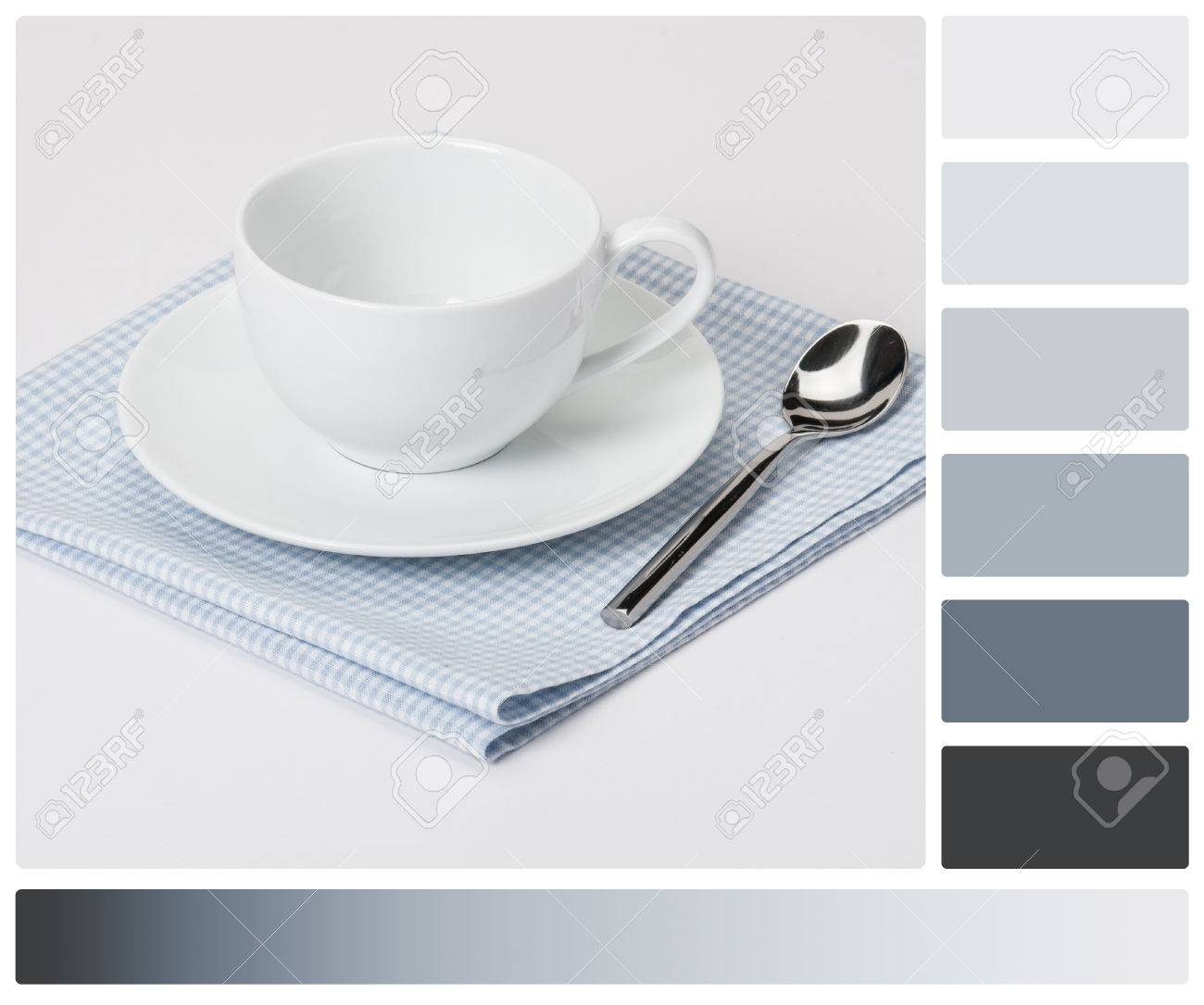 cup plate and spoon