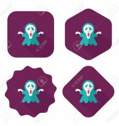 grim reaper flat icon with long shadow stock vector 34493689 [ 1300 x 1300 Pixel ]