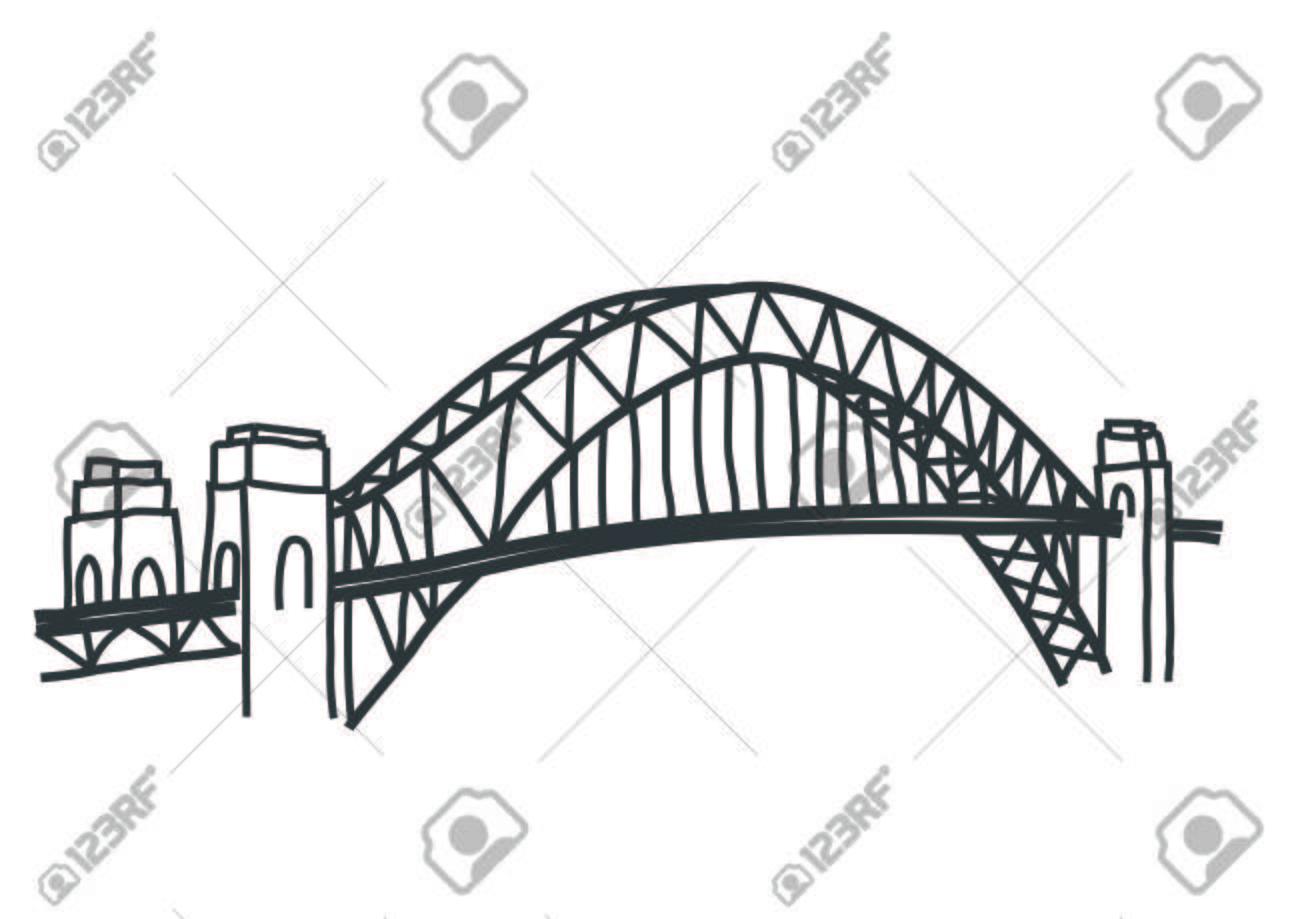 hight resolution of illustration of sydney harbour bridge australia illustration
