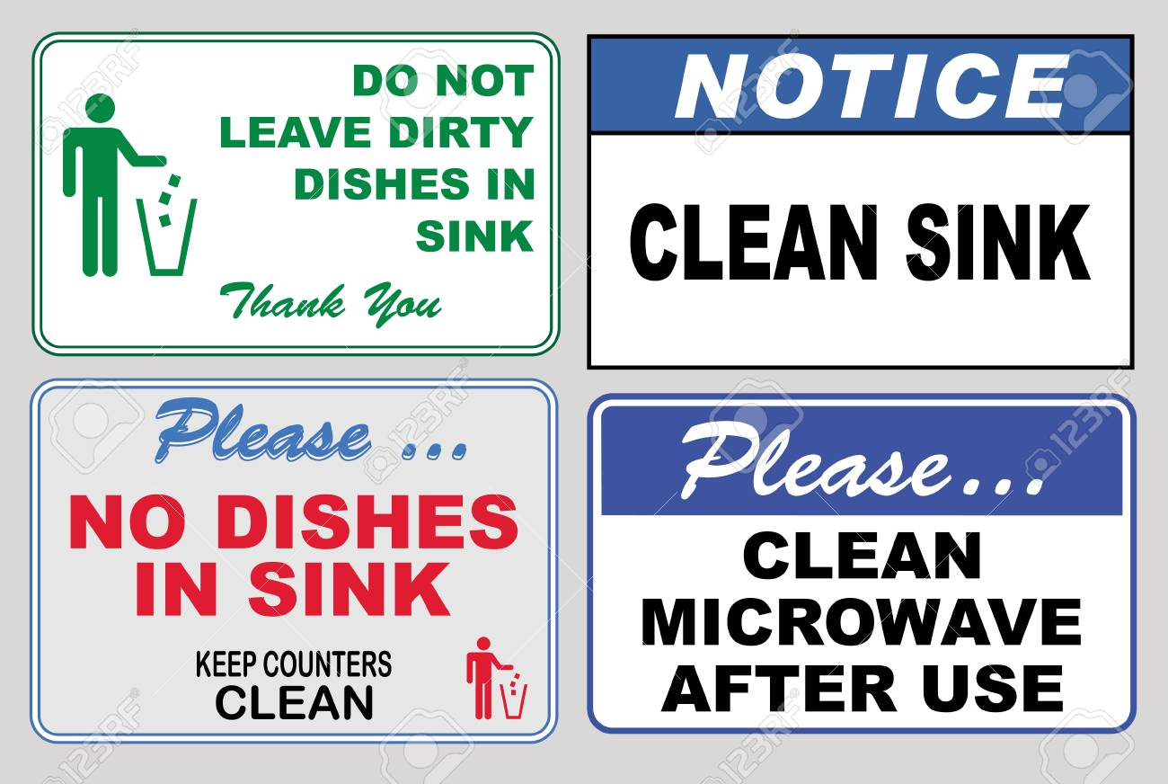 clean sticker sign for office please do not throw rubbish do