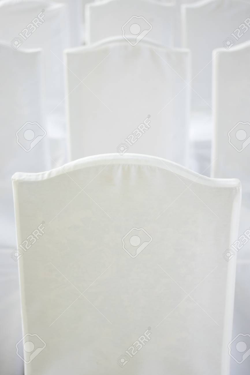 cotton wedding chair covers to buy barber parts outdoor summer garden civil seating with white for marriage service stock