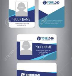id card template for employee and others stock vector 69114046 [ 790 x 1300 Pixel ]