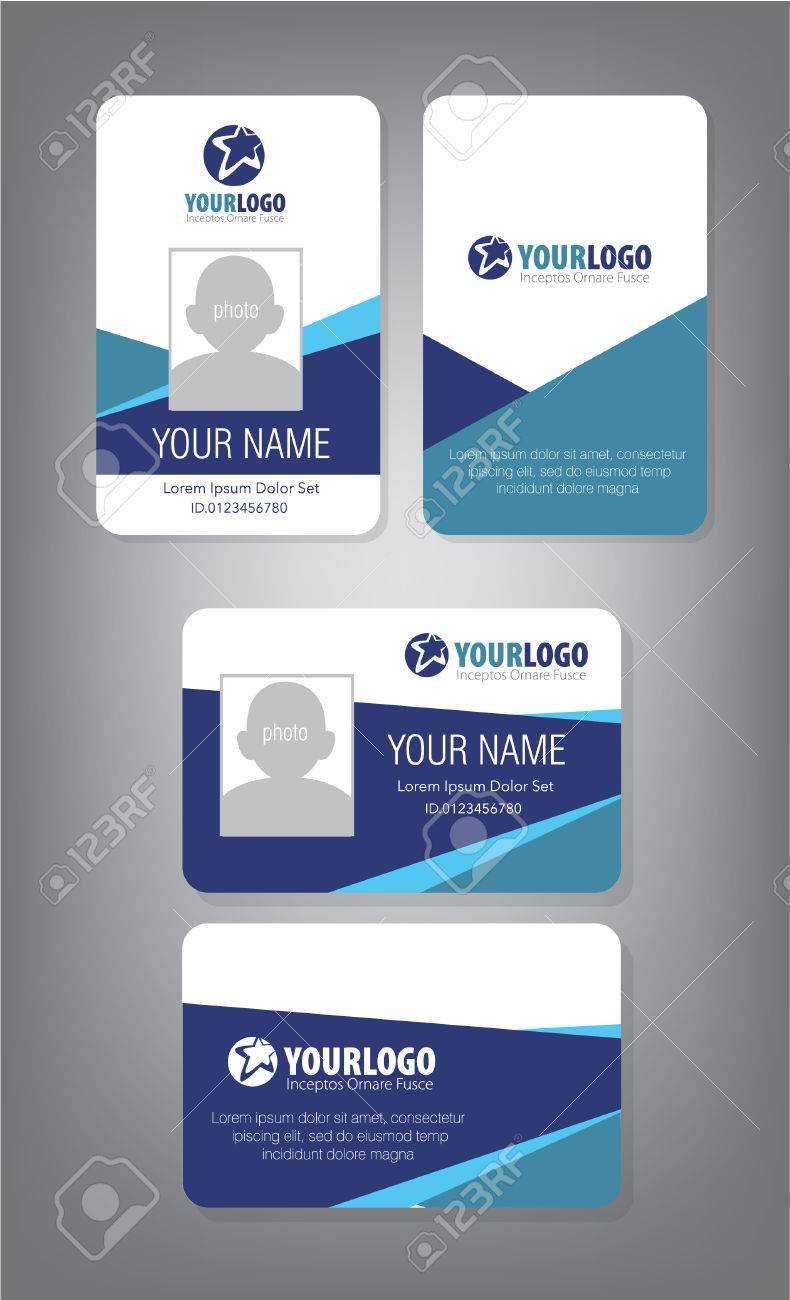 hight resolution of id card template for employee and others stock vector 69114046