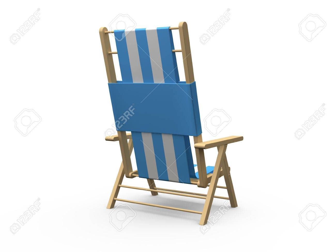wood beach chairs ergonomic mesh office chair uk blue and white wooden back view isolated on background stock