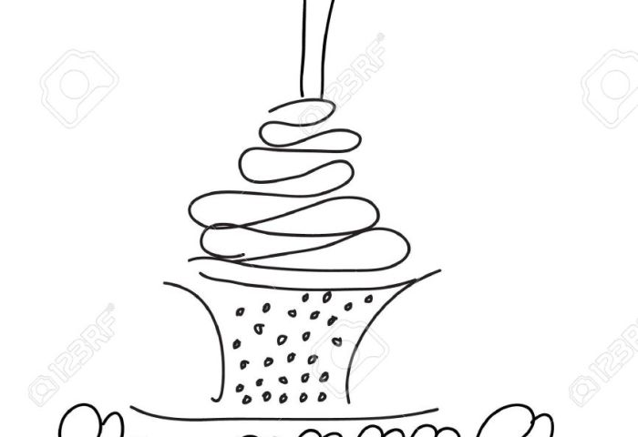 Birthday Cake Sketch Royalty Free Cliparts Vectors And Stock