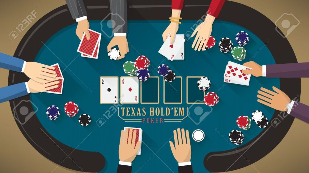 medium resolution of people playing poker around a poker table with dealer the woman is winning