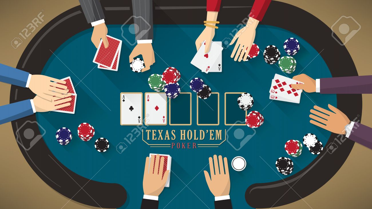 hight resolution of people playing poker around a poker table with dealer the woman is winning