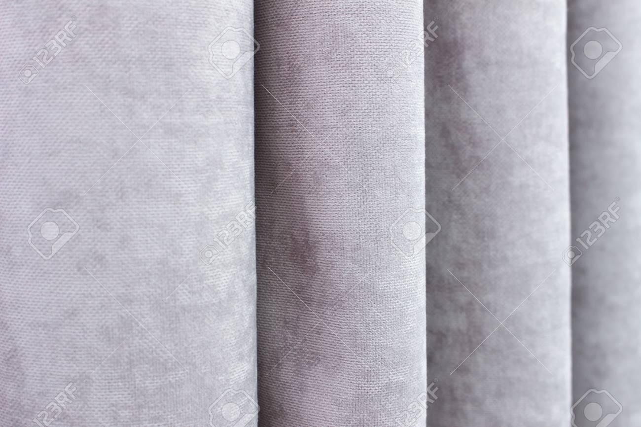 modern curtains close up