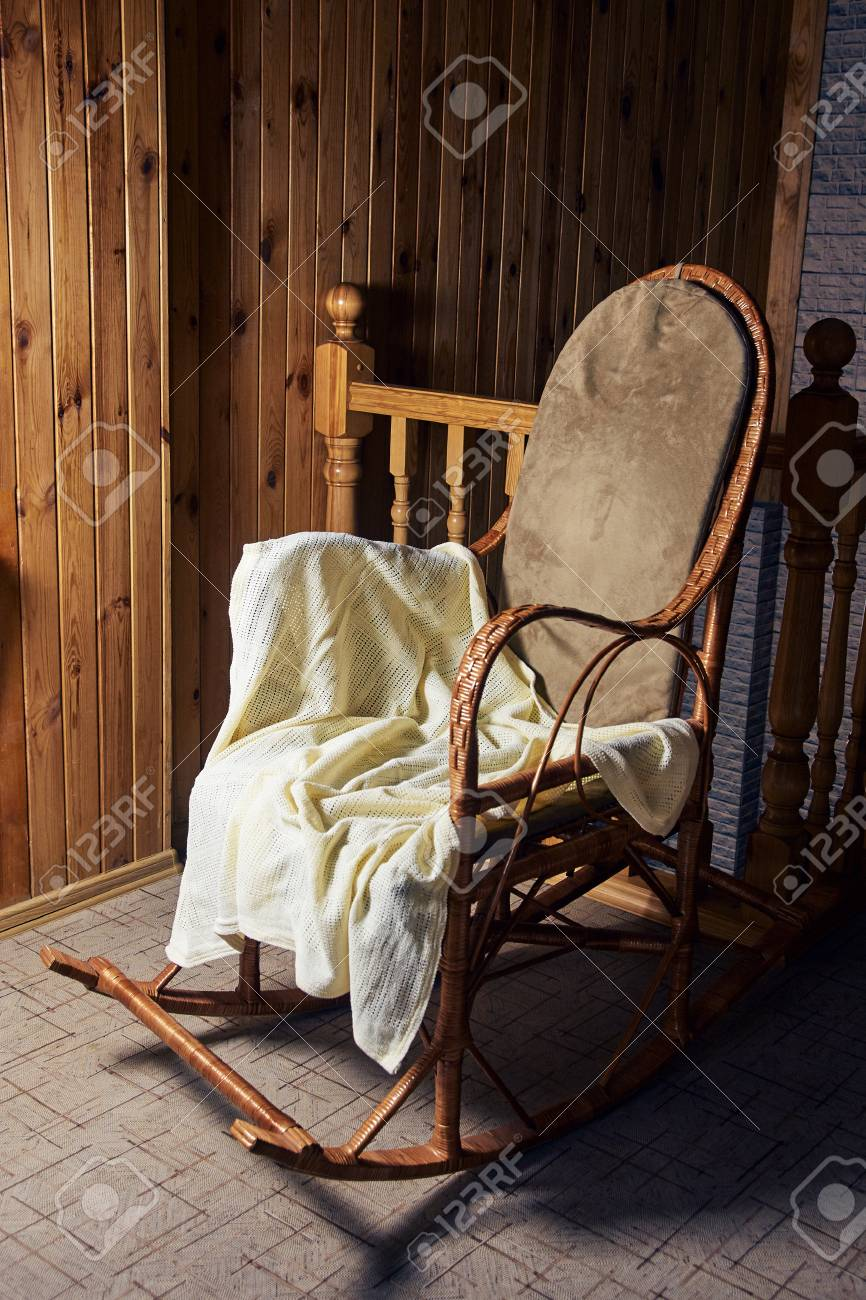 Big Rocking Chair Wooden Walls Cozy Place Stock Photo Picture And Royalty Free Image Image 98724178